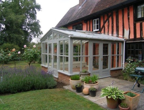 Oak frame garden room