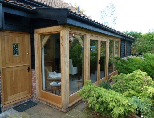 Green oak dining room extension